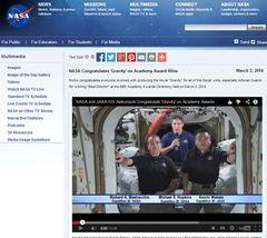 オスカー最多受賞の『ゼロ・グラビティ』をNASAが公式に祝福!