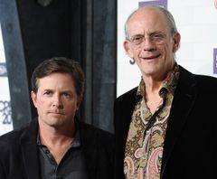 マイケル・J・フォックス&クリストファー・ロイドが『バック・トゥ・ザ・フューチャー』のマーティー&ドクを再演!