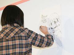 「まどか☆マギカ」「ひだまり」蒼樹うめ、ゆの&キュゥべえを即興描き!