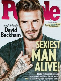 今年最もセクシーな男はデヴィッド・ベッカム!‐米People誌