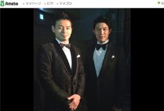 鈴木亮平と五郎丸選手の2ショットに「兄弟みたい」「ダンディな2人組」の声続々!