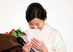 """吉永小百合、""""息子""""二宮和也からの手紙に思わず涙ぐむ"""