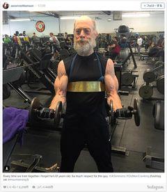 モリッ…じじい界のアメコミ級筋肉にアメリカ興奮