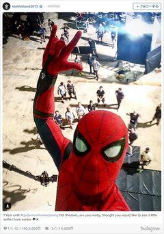 新スパイダーマン、高所でも余裕のセルフィー!臨場感あふれまくり!