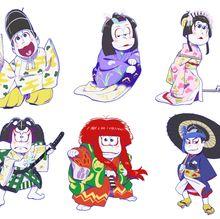 おそ松さん、今度は歌舞伎とコラボ!6つ子が歌舞伎役者に