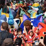 現実世界で妖怪ウォッチ!渋谷の路地が妖怪でみっちり…
