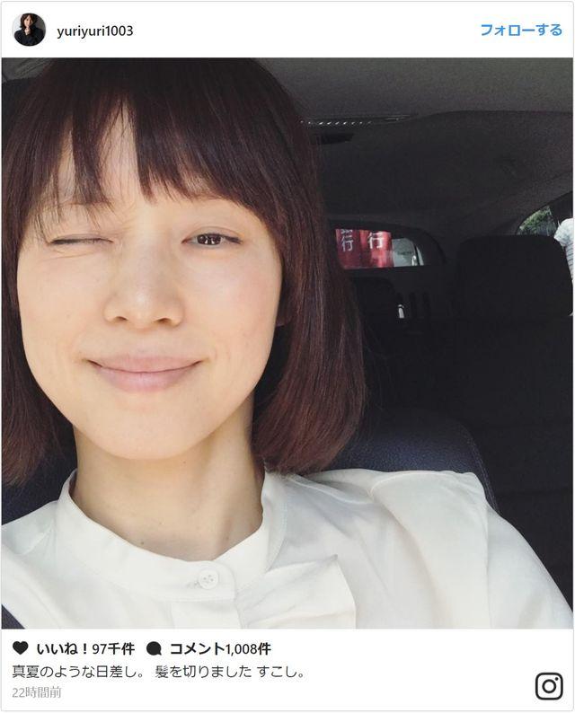 まるで少女\u2026奇跡の47歳・石田ゆり子、ドアップでこの可愛さ