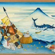 ますむらひろし×北斎のコラボ「猟師図」初公開 企画展6月26日より開催