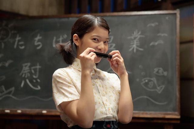 岸井ゆきのが演じるタカ。特技はハーモニカ演奏 , 提供:NHK