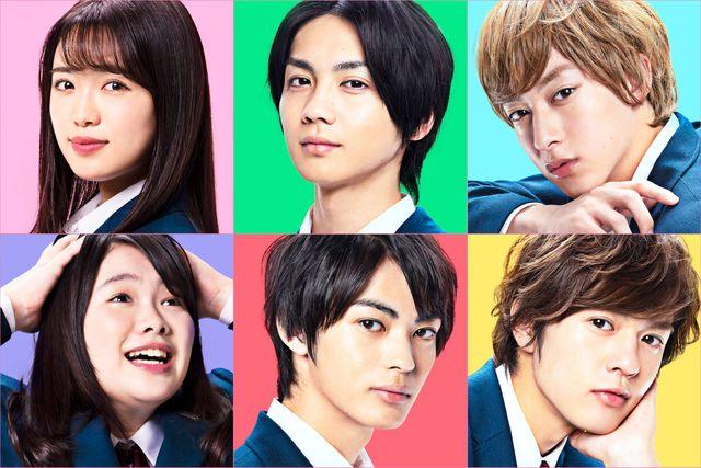 左上から山口乃々華、吉野北人、伊藤あさひ、左下から富田望生、神尾楓珠、奥野壮