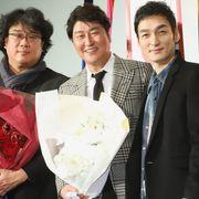 草なぎ剛『パラサイト』快挙を韓国語で祝福 ポン・ジュノ監督&ソン・ガンホと感激の対面