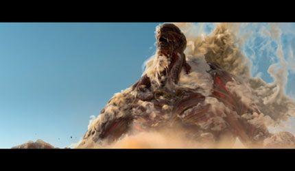 迫力の超大型巨人! 実写巨人がついに登場!