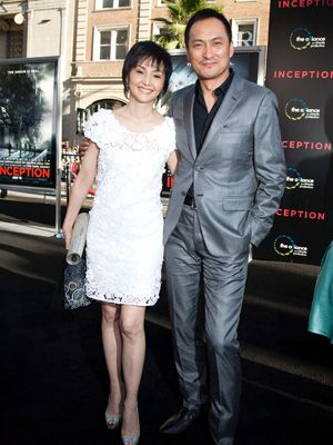 渡辺謙と夫人の南果歩(左)-『インセプション』ロサンゼルスプレミアにて