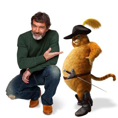 声優を務めたアントニオ・バンデラスと長ぐつをはいたネコ