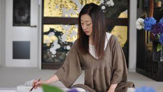 永山裕子 果物と紫陽花を描く