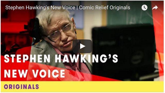 ホーキング博士の新しい声に選ばれたのは…? - 画像はYouTubeのスクリーンショット