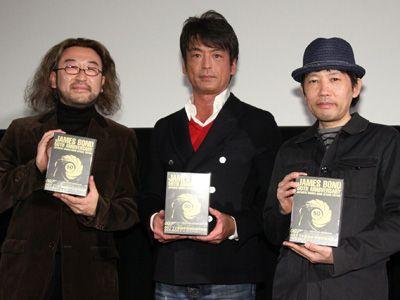 貴重な上映会!-左から三宅隆太、藤真秀、とり・みき