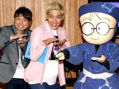 声優経験のある河本準一と初挑戦の田村亮!(左より)
