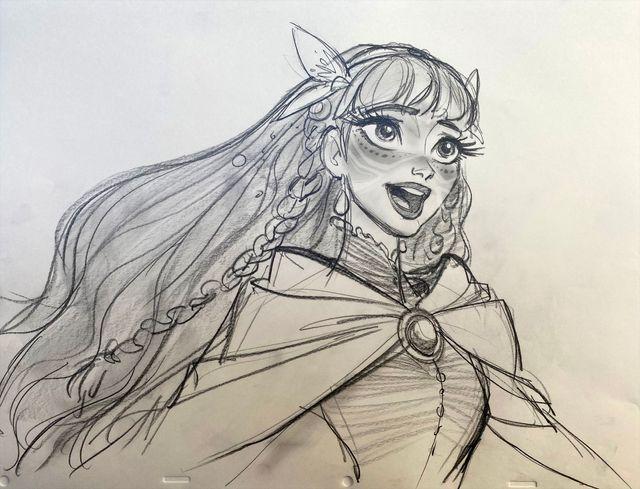 ジン・キムが手掛けた歌姫ベルのキャラクターデザインボード
