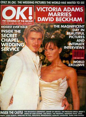 思い出のティアラをオークションに! - 結婚式時のベッカム夫妻