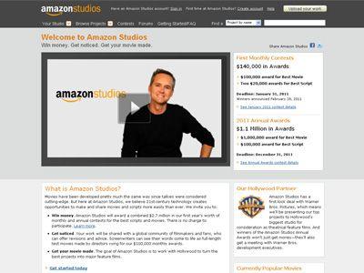 「アマゾンスタジオ」オフィシャルサイト(キャプチャー画面)