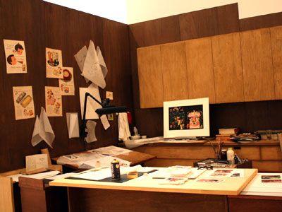 メアリー・ブレアの仕事部屋も再現される