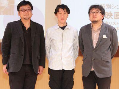 プライベートでも交流があるという(左から)細田守、原恵一、樋口真嗣