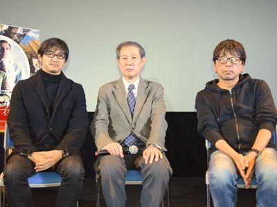 左から、諸永裕司、鈴木邦男、森達也