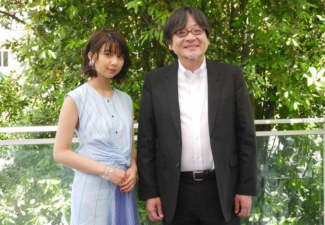 映画祭に参加したくんちゃん役の上白石萌歌&細田守監督
