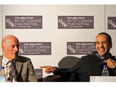 ジャック・オーディアール監督(左)とアブデル・ハフ・ダフリ(右)