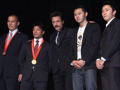 北京オリンピックメダリストとロバート・ダウニー・Jr