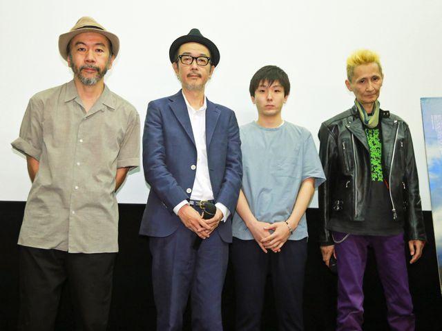 (左から)塚本晋也監督、リリー・フランキー、森優作、石川忠