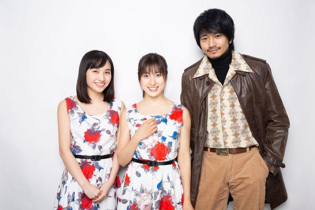 (左から)百田夏菜子、土屋太鳳、向井理