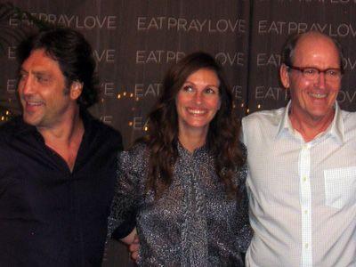 『食べて、祈って、恋をして』メキシコのカンクンでの記者会見-ハビエル・バルデム、ジュリア・ロバーツ、リチャード・ジェンキンス