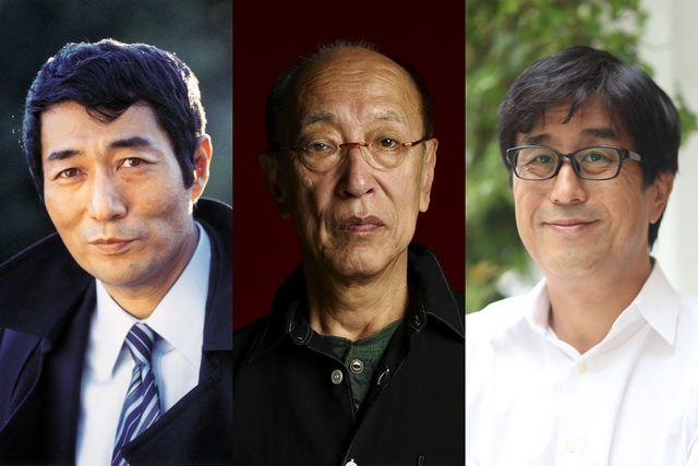 左から寺山修司、蜷川幸雄、松任谷正隆
