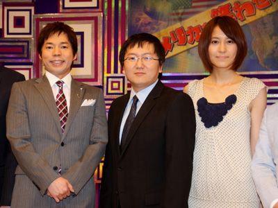 日本の芸人魂を見せつけます!! -(左から)今田耕司、マシ・オカ、青木裕子アナ