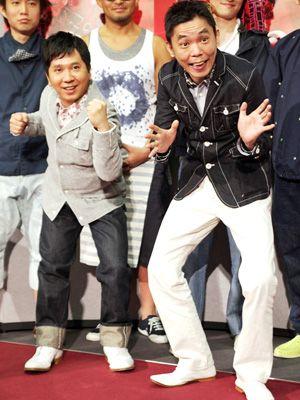 終始会場を盛り上げた爆笑問題の田中裕二と太田光
