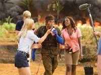 映画『トロピック・サンダー/史上最低の作戦』の監督・製作・脚本を務めたベン・スティラー。撮影中です。