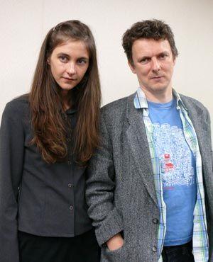原作者のガブリエル・ベルと、監督のミシェル・ゴンドリー
