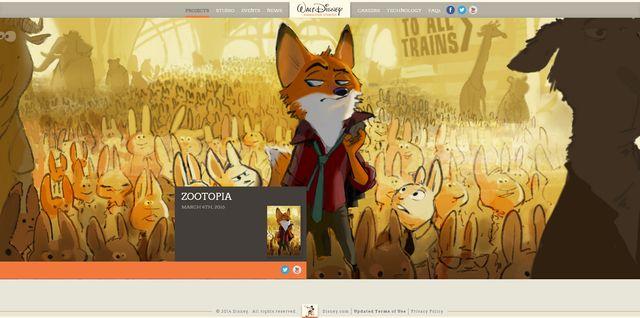 画像は『ズートピア(原題)』の海外公式サイトのスクリーンショット
