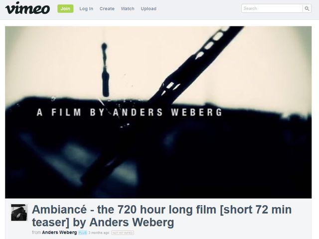 画像は映画『アンビアンス(原題) / Ambiance』の特報がアップされたVimeoのスクリーンショット