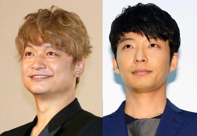 香取慎吾と星野源 (写真は左から2019年6月撮影、2016年7月撮影)