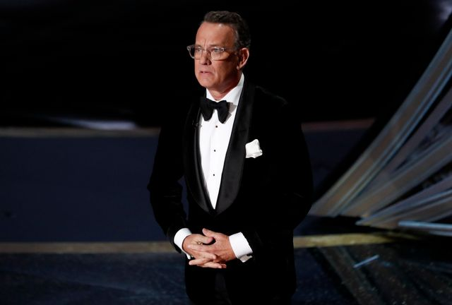 ジョー・バイデン氏の米大統領就任を記念する特別TV番組が1月20日に放映され、司会を俳優のトム・ハンクス(写真)が務めることになった。写真は昨年2月のアカデミー賞授賞式