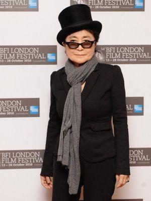 第54回ロンドン映画祭に登場したオノ・ヨーコ