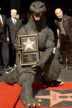 ハリウッドの殿堂入りも果たしているゴジラ(日本のゴジラ)