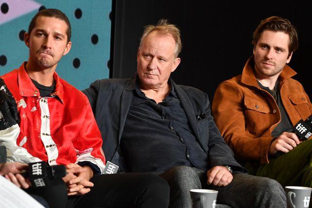 左からシャイア・ラブーフ、ステラン・スカルスガルド、スベリル・グドナソン