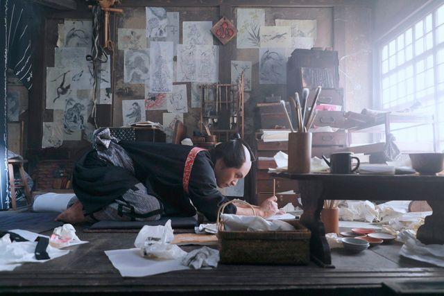 映画『HOKUSAI』より、柳楽優弥演じる青年期の北斎