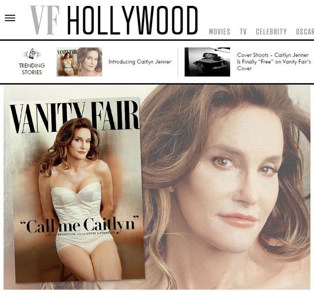ケイトリン・ジェンナーとしての姿が初公開 - 画像は Vanity Fair 誌オフィシャルサイトのスクリーンショット