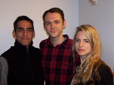(左から)ザル・バトマングリー監督、クリストファー・デナム、ブリット・マーリング
