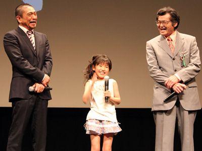 大爆笑する松本人志監督! 子役の熊田聖亜と主演の野見隆明も爆笑!